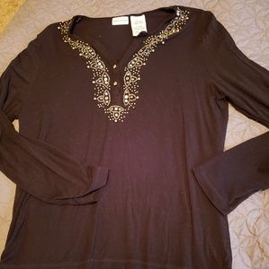 White stag sequence blouse